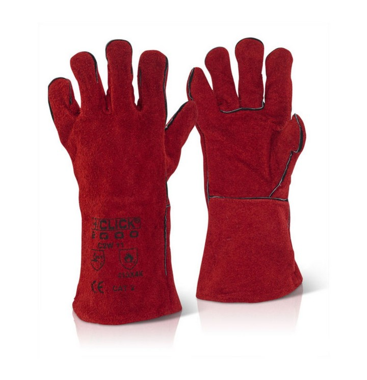 Red Welders Gauntlet CAT2 (1 pair)