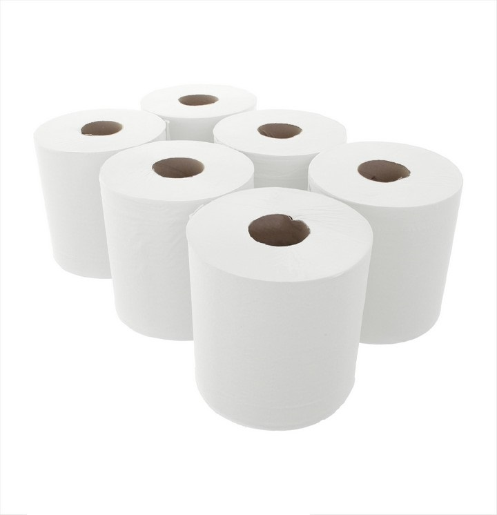 White Centre Feed Roll 150M (6 pack)