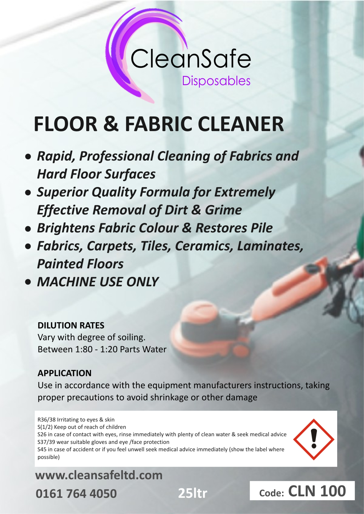 Floor Cleaner 5ltr Fabric Cleaning Supplies Direct