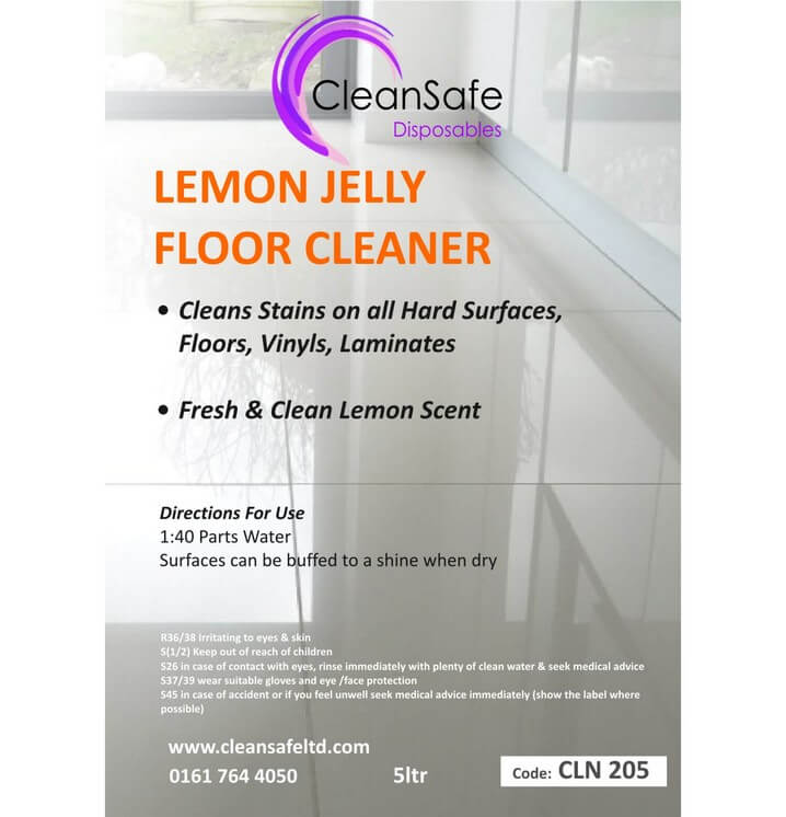 Lemon Gel Floor Cleaner 5ltr