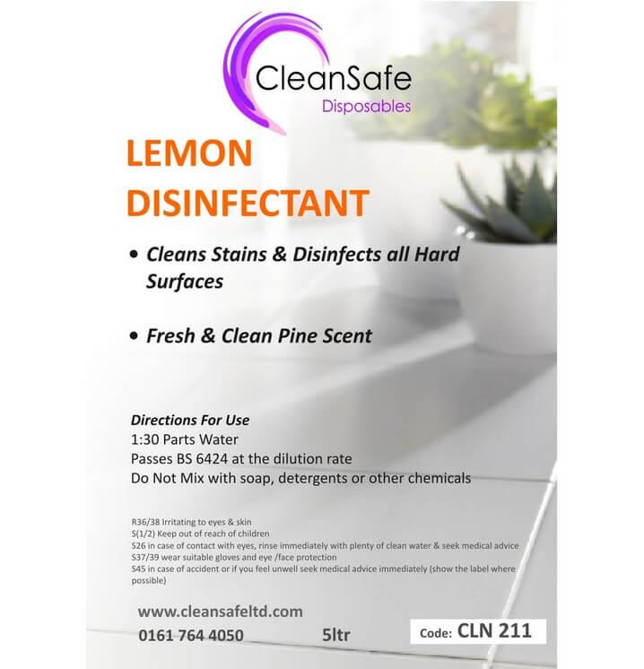 Lemon Disinfectant 5ltr