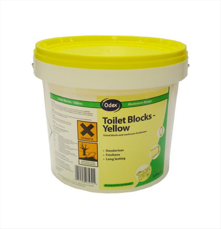 Urinal Channel Blocks (3.25kg) - Yellow