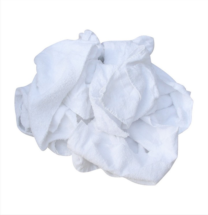 White Terry Towel Rags 1Kg Bag