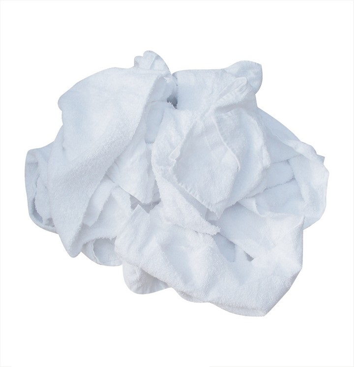 White Terry Towel Rags 5Kg Bag