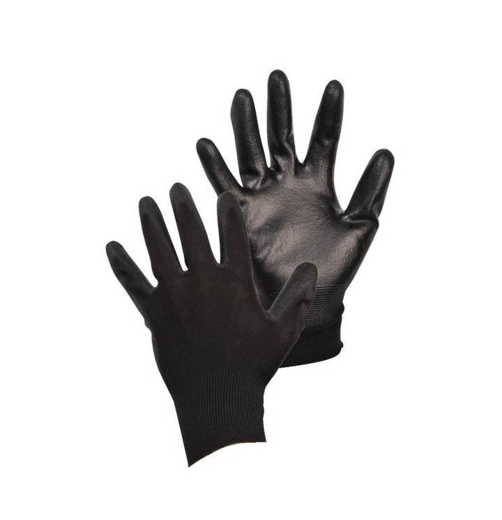 Black PU Coated Grip Glove GLO164