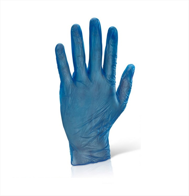 Blue Vinyl Disposable Gloves