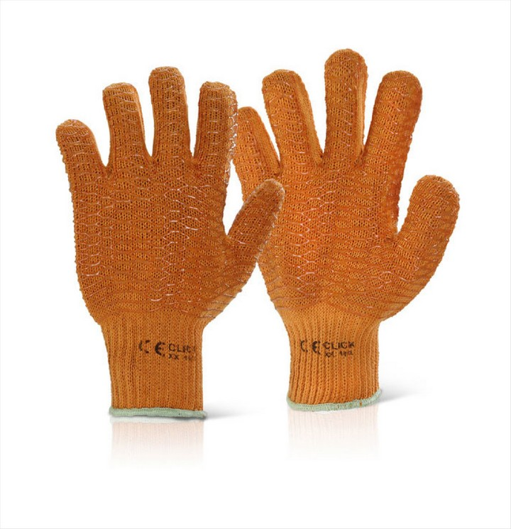 Criss Cross Gloves - Orange (1 pair)