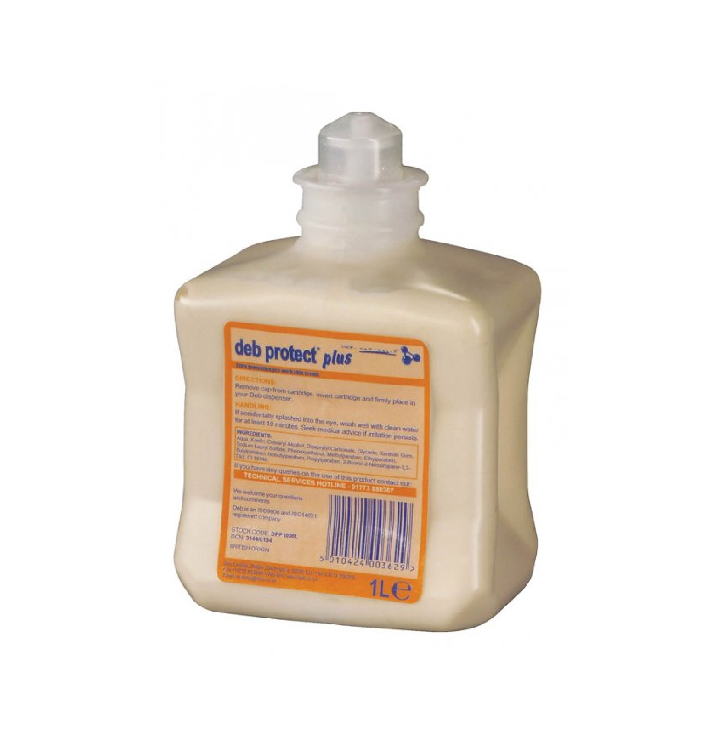 DEB Protect Plus Barrier Cream UPW1L 1ltr