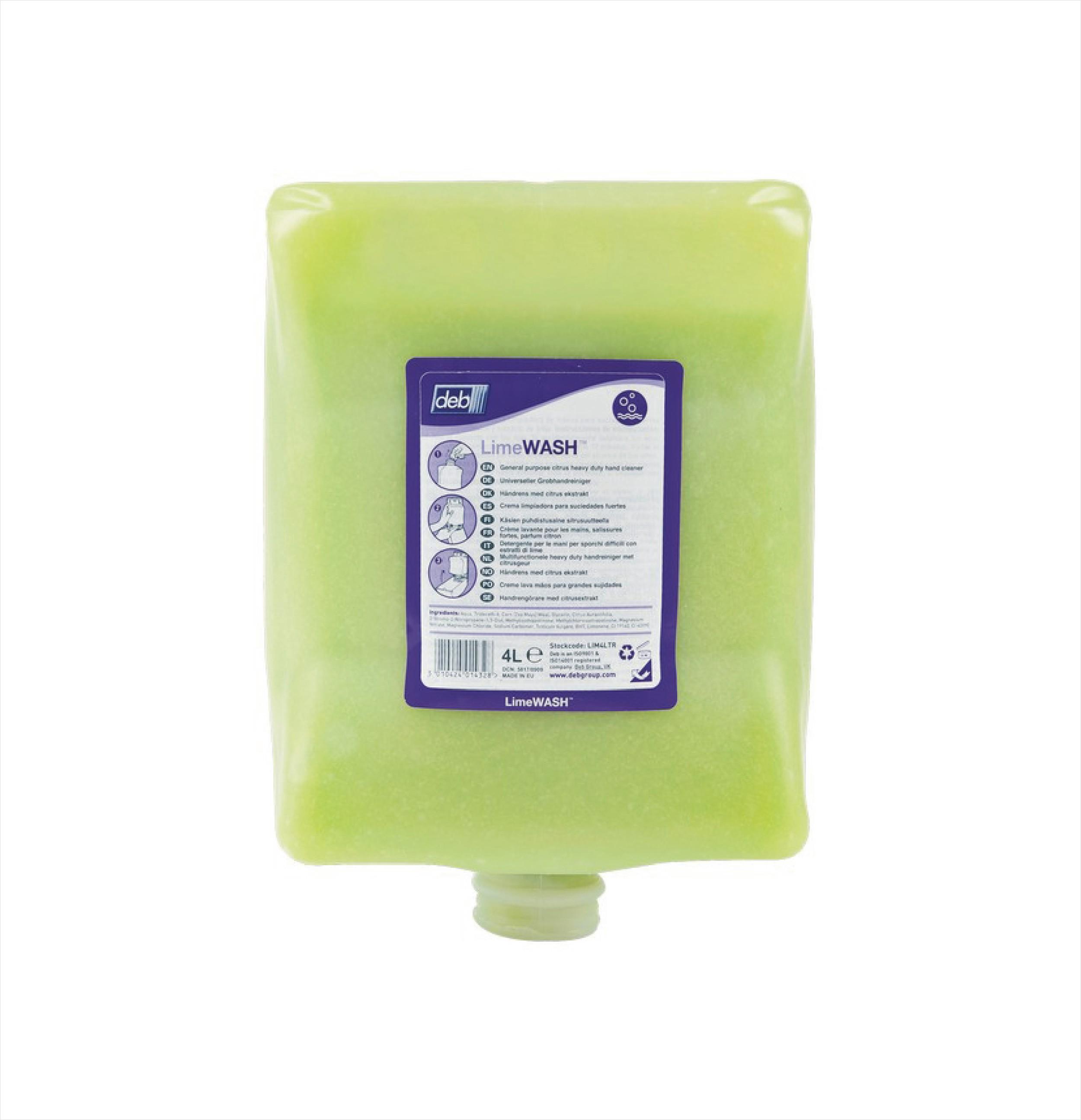 Lime Hand Cleaner DEB 4ltr LIM4LTR