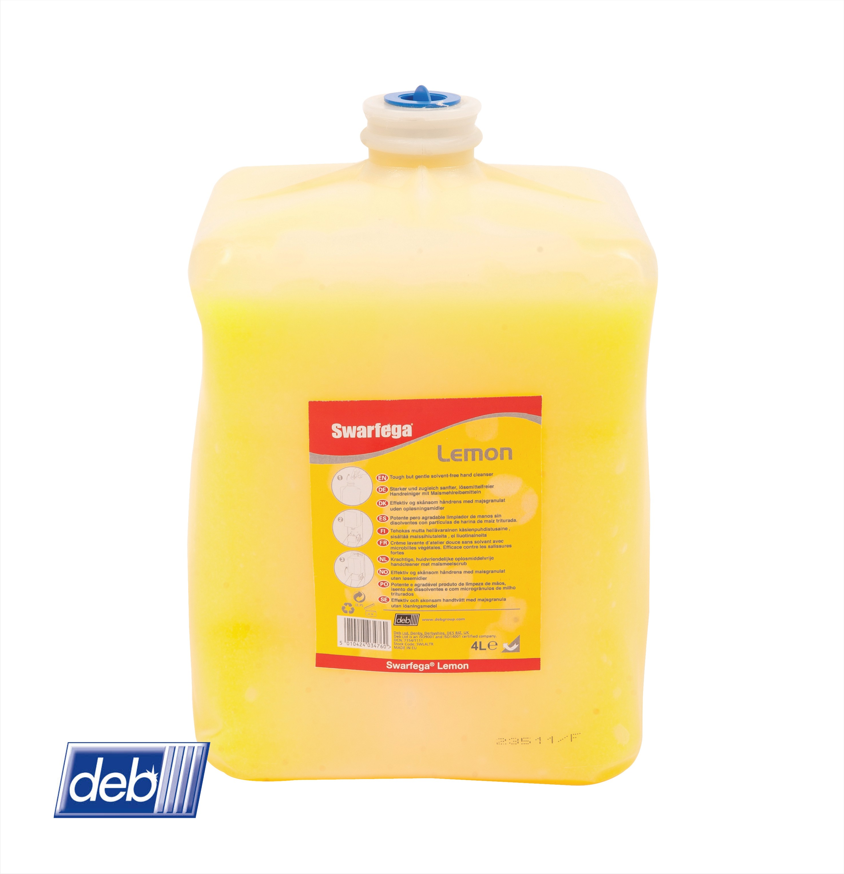 Swarfega Lemon Beaded 4 ltr SWL4LTR