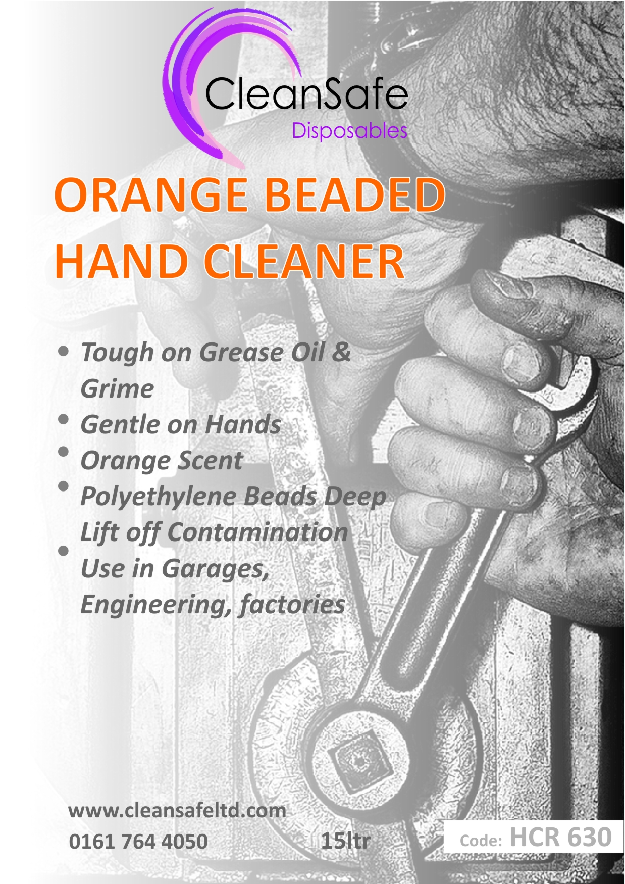 Orange Beaded Hand Cleaner Bucket (15ltr)