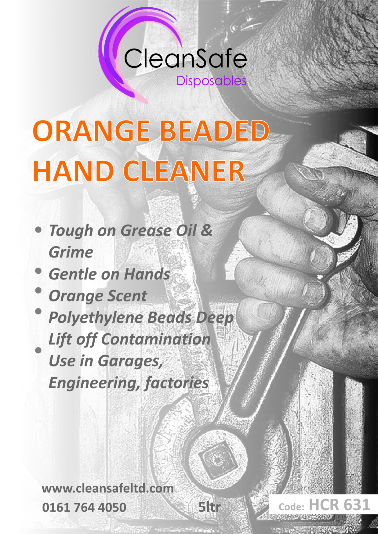 Orange Beaded Hand Cleaner Bucket (5ltr)