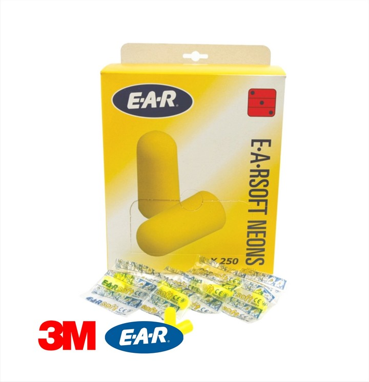 EARsoft Ear Plugs Neon (250 pairs)