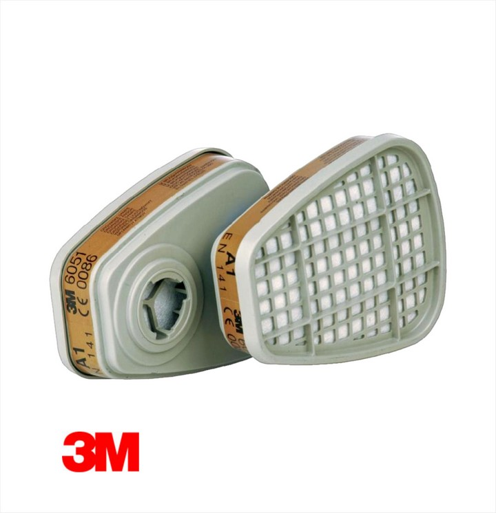 3M 6051 Dust Mask Filter (4 pair pack)