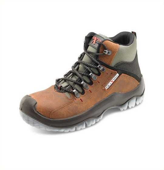 Hiker Boots Traction Brown
