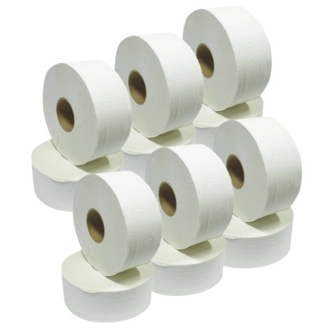 Mini Jumbo Toilet Rolls 76mm (12 pack)