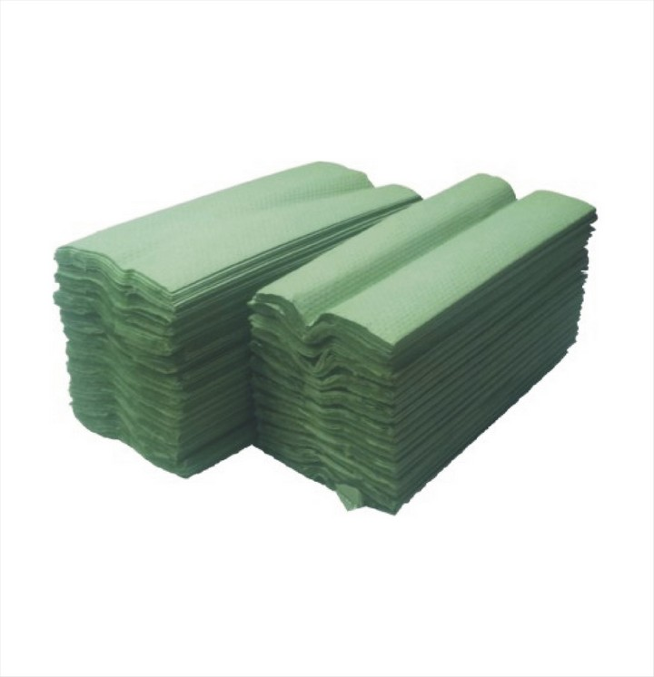 Paper Hand Towels C Fold Green