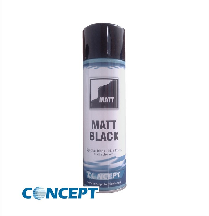 Concept Matt Black Paint (450ml)