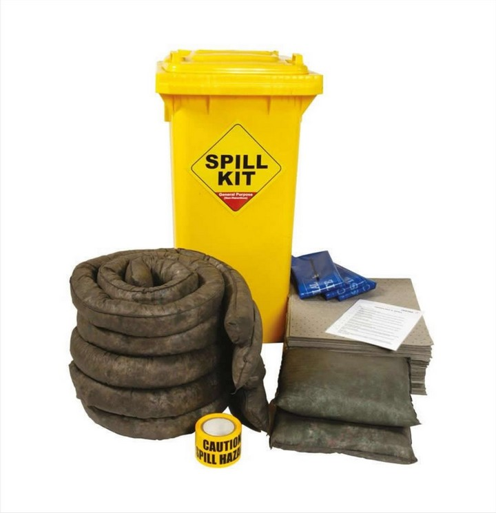 General Purpose Spill Kit GSKS 125ltr Wheeled Bin