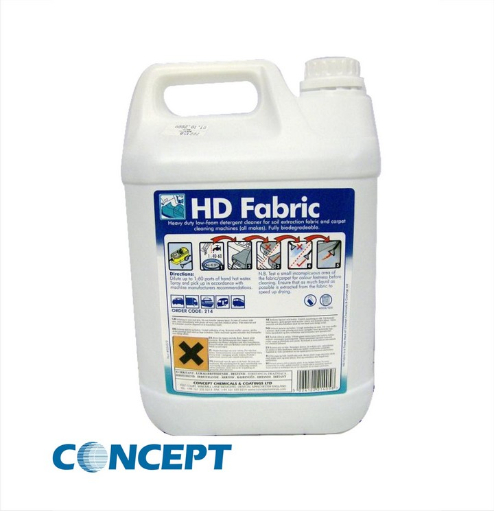 Concept HD Fabric Cleaner (5ltr)
