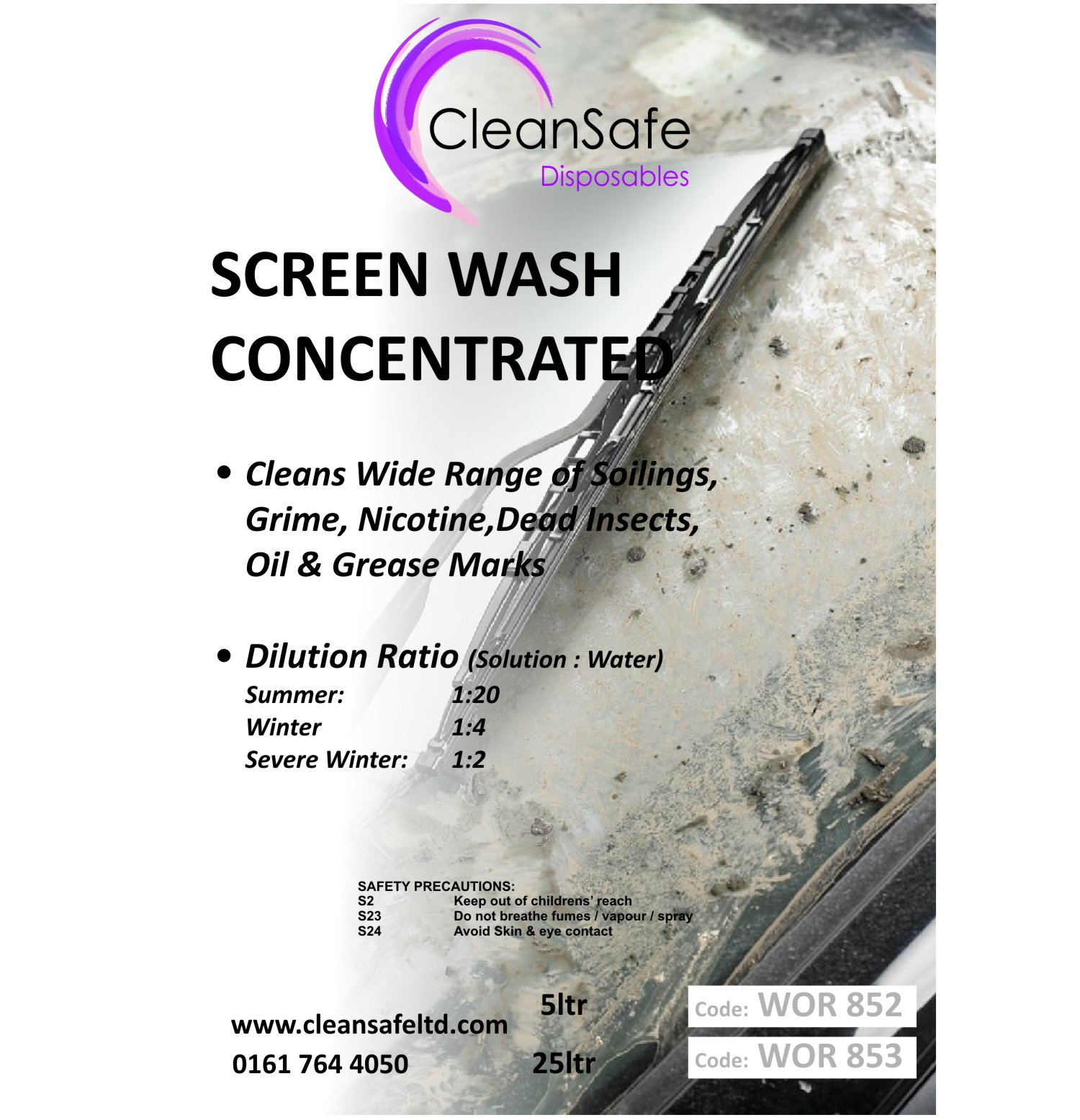 Concentrated Screen Wash (25ltr)