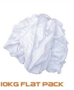 CLO 410 White Cleaning Cloths 10kg | Cleaning Cloths Importer Direct