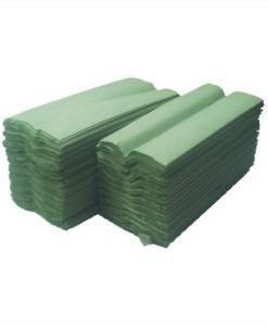PAP 400 Paper Hand Towels C Fold Green | Paper Disposables Direct