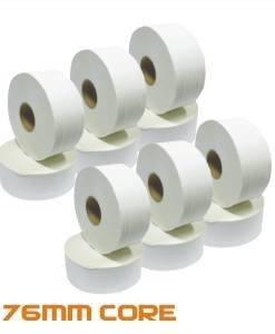 PAP 706 - Mini Jumbo Toilet Rolls 150M 76mm Core 12 pack | Paper Disposables Direct