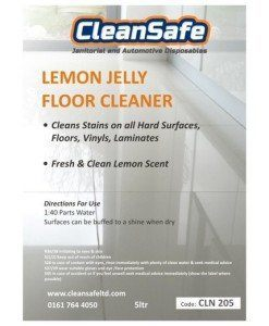 CLN 205 Lemon Gel Floor Cleaner | Cleaning Supplies Manufacturer