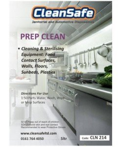 CLN 214 Prep Cleaner Disinfectant - Cleaning Supplies