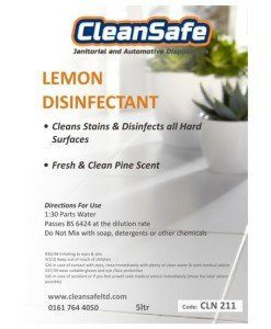 Lemon Disinfectant 5ltr | Cleaning Supplies