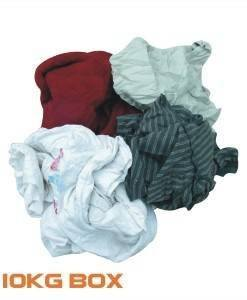 CLO 595 Cleaning Rags 10Kg Box | Cleaning Cloths Importer Direct