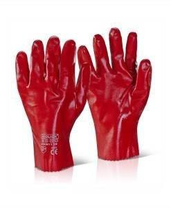 "GLV 501 Red PVC Gloves 11"" Gloves 