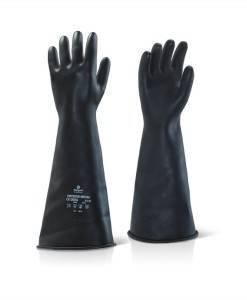"GLV 505 Industrial Heavyweight Gloves Black Rubber 17"" ILMW1710 