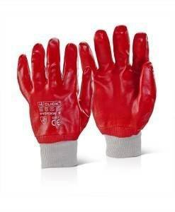 GLV 711 Knitted Wrist Gloves Red PVC | Gloves Direct