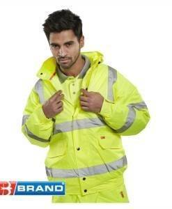 WWR 100 High Vis Bomber Jacket (Full Spec) | High Visibility PPE Supplies Direct