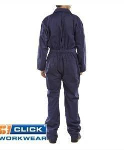 Navy Boiler Suit Coveralls | PPE Supplies Direct