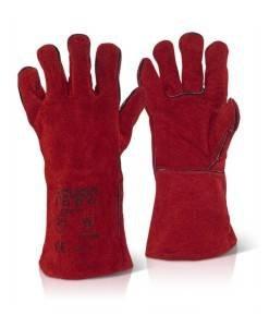 GLV 701 Red Welders Gauntlets CAT2 | Handling Gloves Direct