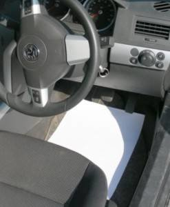 Paper Floor Mats White 200 pack from Seat Covers and Floor Mats