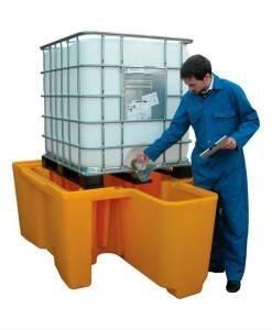 SPC 900 IBC Spill Pallet BBC1D + Intergral Dispenser | Spill Control Direct
