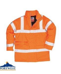 Orange Hi Vis Rail Jacket